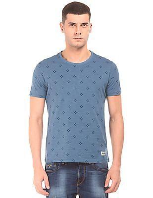 Flying Machine Printed Slub T-Shirt