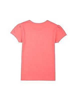 Cherokee Girls Printed Cotton T-Shirt