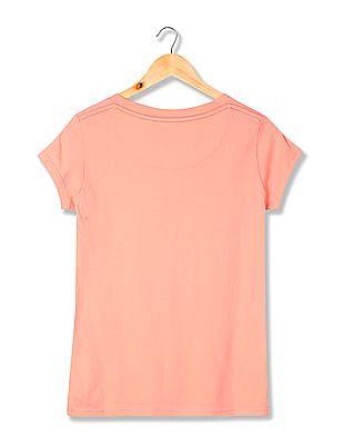 Flying Machine Women Standard Fit Printed T-Shirt