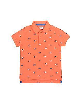 U.S. Polo Assn. Kids Boys Printed Short Sleeve Polo Shirt