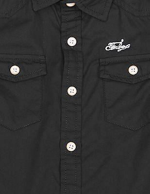 FM Boys Boys Long Sleeve Slim Fit Shirt