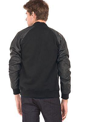 Flying Machine Raglan Sleeve Zip Up Sweatshirt