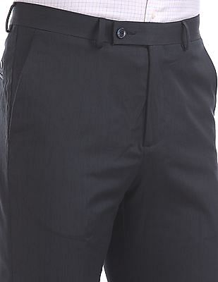 Arrow Newyork Tapered Fit Pleated Front Trousers