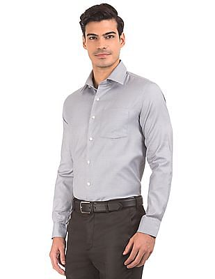 Arrow Patterned Slim Fit Shirt