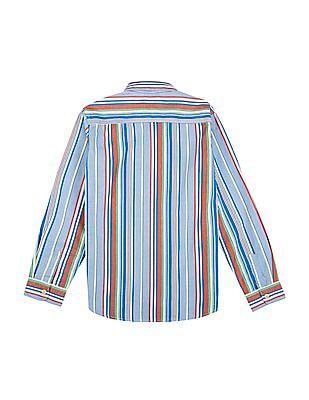 U.S. Polo Assn. Kids Boys Striped Cotton Shirt