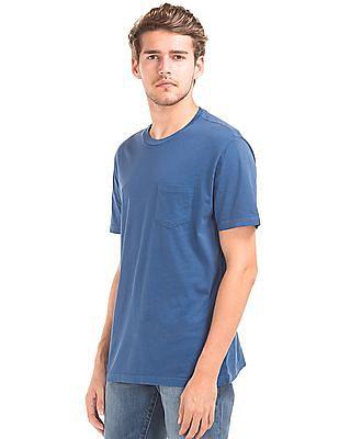 GAP Men Blue Vintage Wash T-Shirt