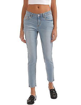 Flying Machine Women Stone Wash Skinny Jeans