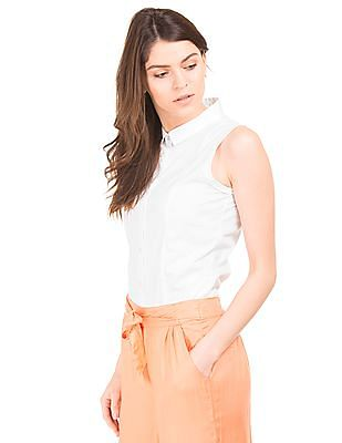 Elle Solid Regular Fit Shirt