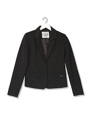 Flying Machine Women Regular Fit Textured Jacket