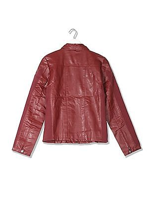 Flying Machine Women Regular Fit Solid Biker Jacket