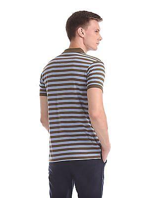 Ruggers Regular Fit Stripe Polo Shirt