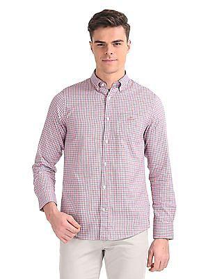 Gant Windblown Oxford Plaid Regular Button Down Shirt