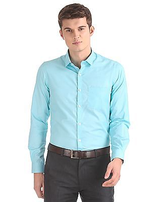 Excalibur Semi-Spread Collar Patterned Shirt