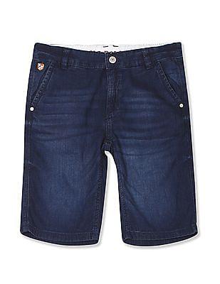 U.S. Polo Assn. Kids Boys Whiskered Textured Shorts
