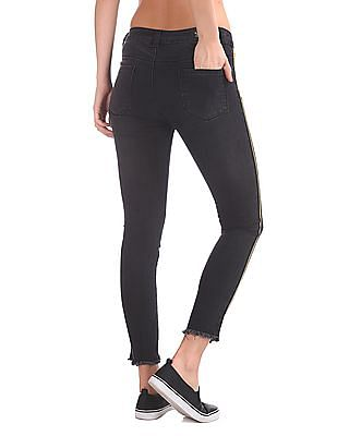 SUGR Stone Wash Side Tape Jeans