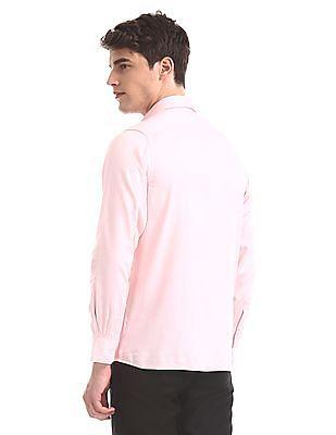 Arrow Pink Patterned Giza Cotton Shirt