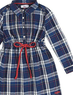 U.S. Polo Assn. Kids Girls Check Shirt Dress