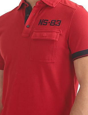Nautica Short Sleeve Applique Polo
