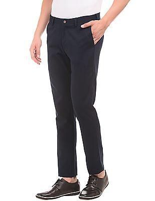 Arrow Sports Adjustable Waist Slim Fit Trousers