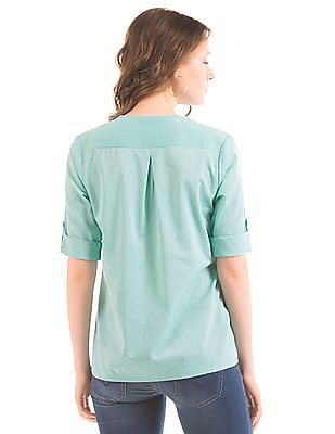 Arrow Woman Panelled V-Neck Top