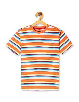 Cherokee Boys Striped Chest Pocket T-Shirt