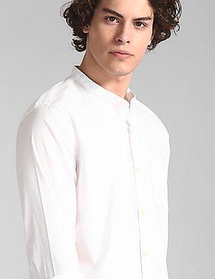 GAP White Banded Collar Shirt