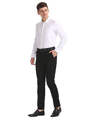 Arrow Newyork Tapered Fit Twill Trousers