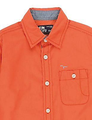 FM Boys Boys Solid Slim Fit Shirt