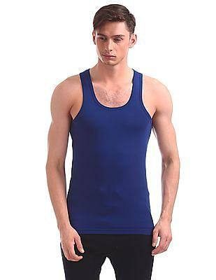 USPA Innerwear Regular Fit Solid Jersey Vest