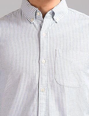 GAP Men Blue Oxford Shirt In Stretch