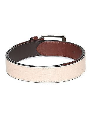 Izod Canvas Trim Leather Belt