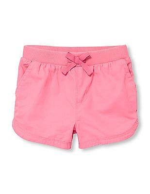 The Children's Place Toddler Girl Knit Waistband Woven Shorts