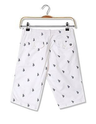 U.S. Polo Assn. Slim Fit Printed Chino Shorts