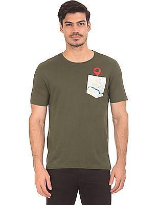 Colt Patch Pocket Round Neck T-Shirt