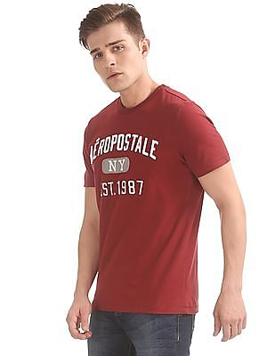 Aeropostale Crew Neck Applique T-Shirt