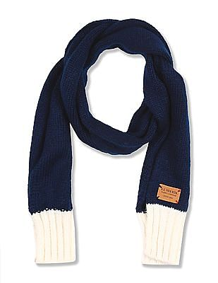 U.S. Polo Assn. Kids Boys Cable Knit Scarf