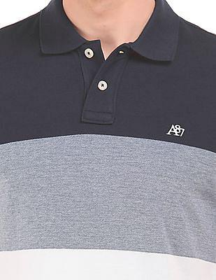 Aeropostale Striped Regular Fit Polo Shirt