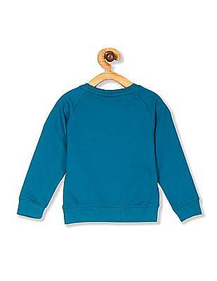 Cherokee Girls Raglan Sleeve Sequin Graphic Sweatshirt