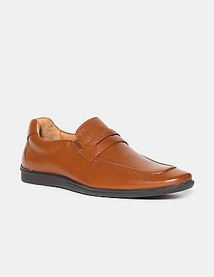 Arrow Brown Penny Strap Leather Loafers