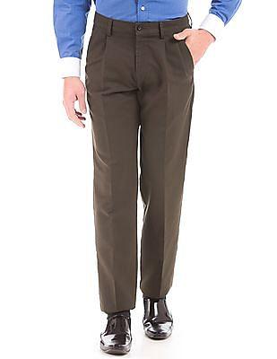 Arrow Sports Mid Rise Regular Fit Trousers