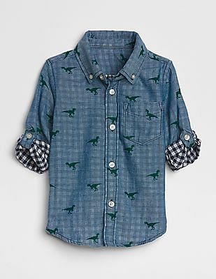GAP Baby Double-Weave Convertible Shirt