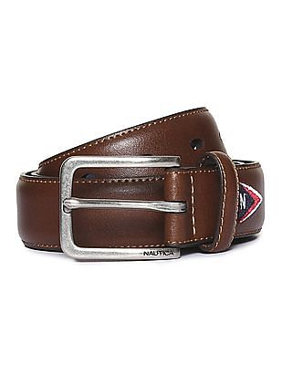 Nautica Grained Leather Belt