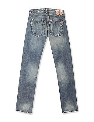 Flying Machine Women Blue Scarlet Slim Fit Mid Waist Jeans