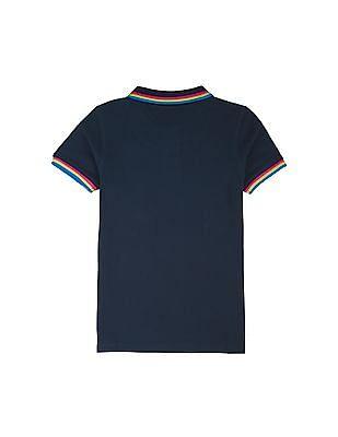 FM Boys Boys Solid Slim Fit Polo Shirt
