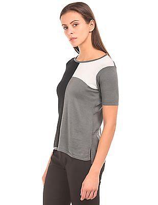 Arrow Woman Colour-Block Knit Top