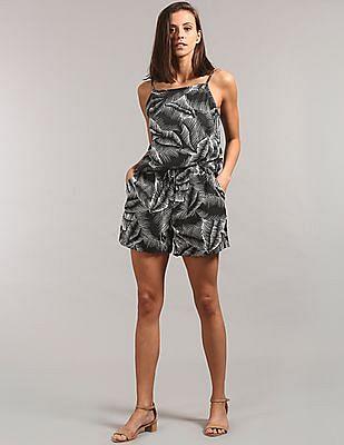 GAP Women Grey Printed Jogger Shorts