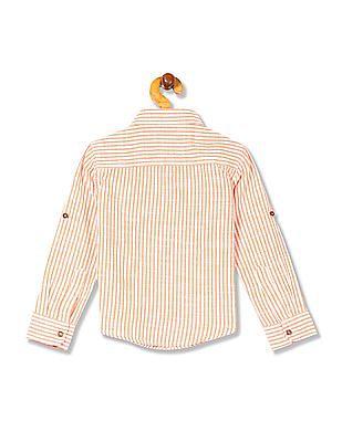 Cherokee Boys Spread Collar Stripe Shirt