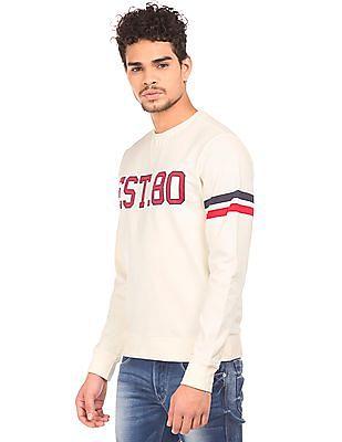 Flying Machine Printed Slim Fit Sweatshirt