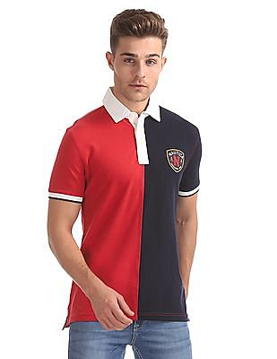 Nautica Short Sleeve Split Polo