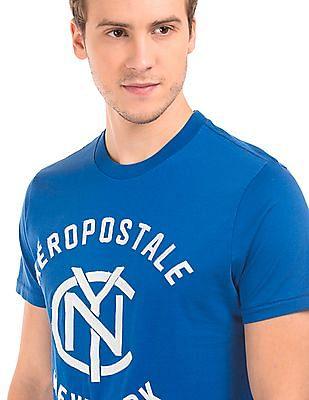 Aeropostale Brand Embroidered Round Neck T-Shirt